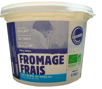 Fromage blanc 20% 1 Kilos