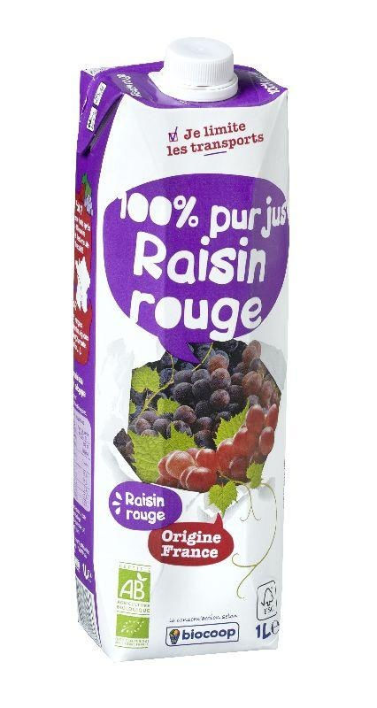 Jus de raisin rouge tétra 1L